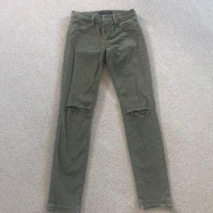 J Brand army green jean, 24